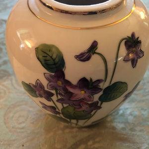 Hand Painted Violet Vase